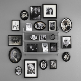 STRING POCKET shelf in grey