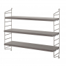 STRING POCKET shelf in grey