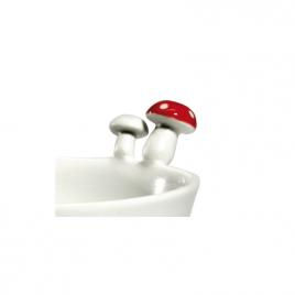 Bisque porcelain bowl Mushroom