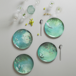 Set of 4 melanine plates Yuan - design Ibride