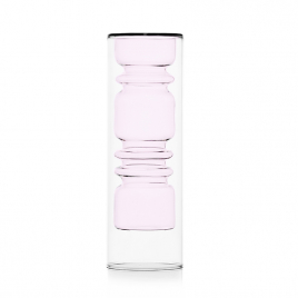 "Pink Vase ""Rings"" by Ichendorf Milano"