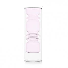 "Vase ""Rings"" rose"
