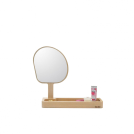 Mirror and storage compartment Kagami