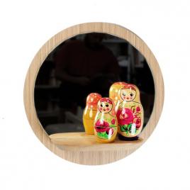 Miroir avec tablette Sunrise de la marque Reine Mère sur LaCorbeille.fr