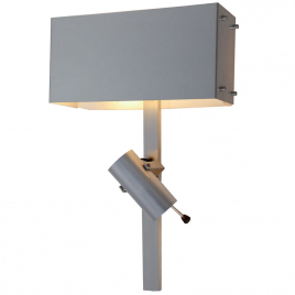 Wall lamp with adjustable spotlight by Pierre Vandel