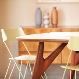 Table TED ONE blanche de la marque Greyge sur LaCorbeille.fr