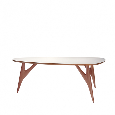 TED ONE table in white