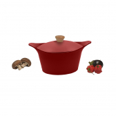 "Red casserole dish ""Ma Jolie Cocotte"""