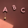 Set of 3 Wall hooks A B C