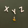 Set of 3 Alphabet X Y Z Wall Hooks