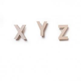 Lot de 3 Patères Alphabet X Y Z de la arque Rock and pebbles sur LaCorbeille.fr