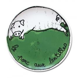 assiette Recette 100drine sur LaCorbeille.fr : Le Porc aux Lentilles