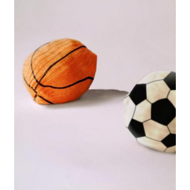 Chaussettes ballon de basket sur La Corbeille.fr - Design L'Air de Rien