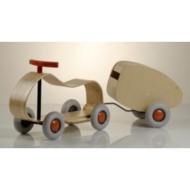 Child wood car and trailer / Max & Lorette