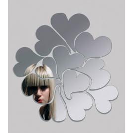 Miroir mural Coeurs