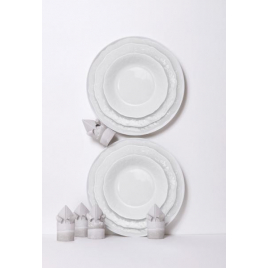 "Pair of porcelain plates ""All in One"""