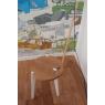Tabouret Canne en chêne pieds laqué blanc sur LaCorbeille.fr