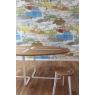 ambiance table et Tabouret blanc Canne en chêne sur LaCorbeille.fr