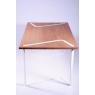 Table - bureau design rectangulaire en chêne et métal laqué sur LaCorbeille.fr