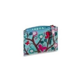 """Porte-monnaie / pochette """"MiniLabo"""" Papillons fond bleu"""