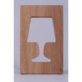 Lampe design de chevet en chêne Outlight en chêne ou blanc laqué sur LaCorbeille.fr