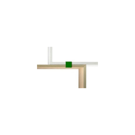 Set of 5 green clips for Stacked bookcase by Muuto