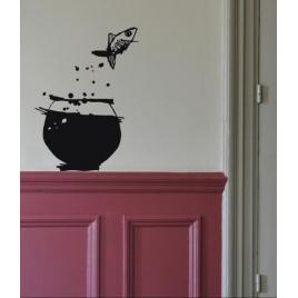 Sticker Poisson Volant de la Marque Poetic wall® sur LaCorbeille.fr