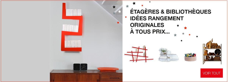 Sélection d'étagères et bibliothèques design et originales sur LaCorbeille.fr