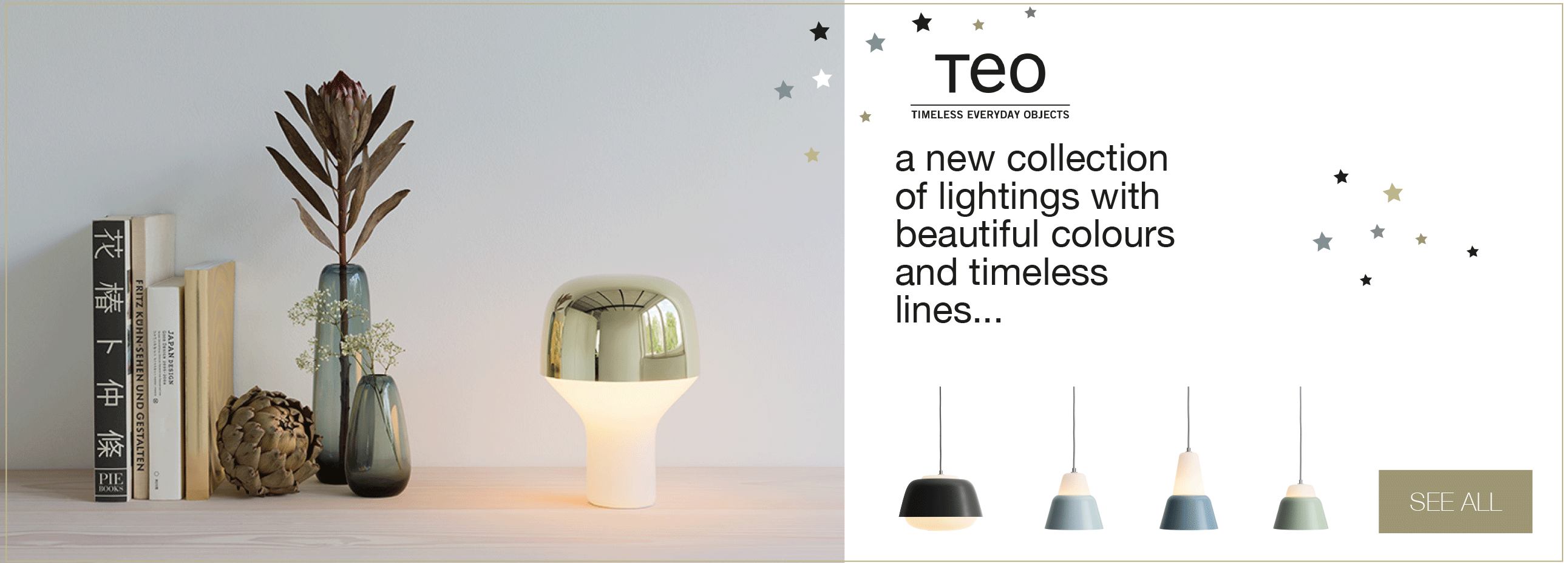 Collection of lighting TEO - Timeless Everyday Objects