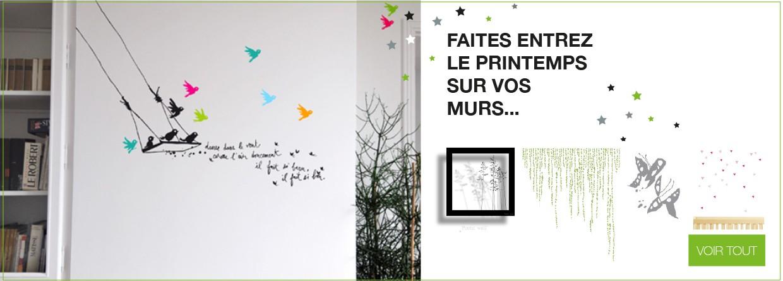 Sélection de stickers muraux décoratifs sur LaCorbeille.fr